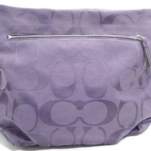 Coach Plum Purple Signature Shoulder Bag
